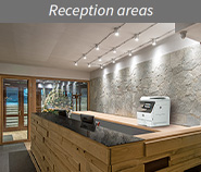 Reception areas