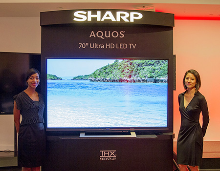 sharp introduces aquos ultra high definition tv to the north american market world topics. Black Bedroom Furniture Sets. Home Design Ideas