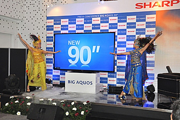 tv 90 inch. with the 90 inch class model introduced this time, sharp will continue to strive establish its brand name and market share, especially for large tv