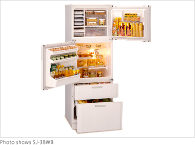 Dual Swing Door Refrigerator U003cSJ 38WB/32WBu003e | Sharp Corporation | Sharp  Global