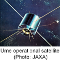 Ume operational satellite (Photo: JAXA)