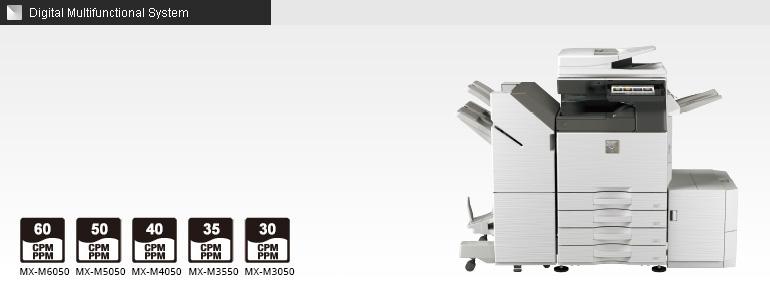 MX-M6050/M5050/M4050/M3550/M3050   Sharp Digital MFPs